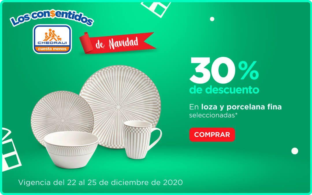 Chedraui: 30% de descuento en loza y porcelana fina, en artículos y baterías de cocina