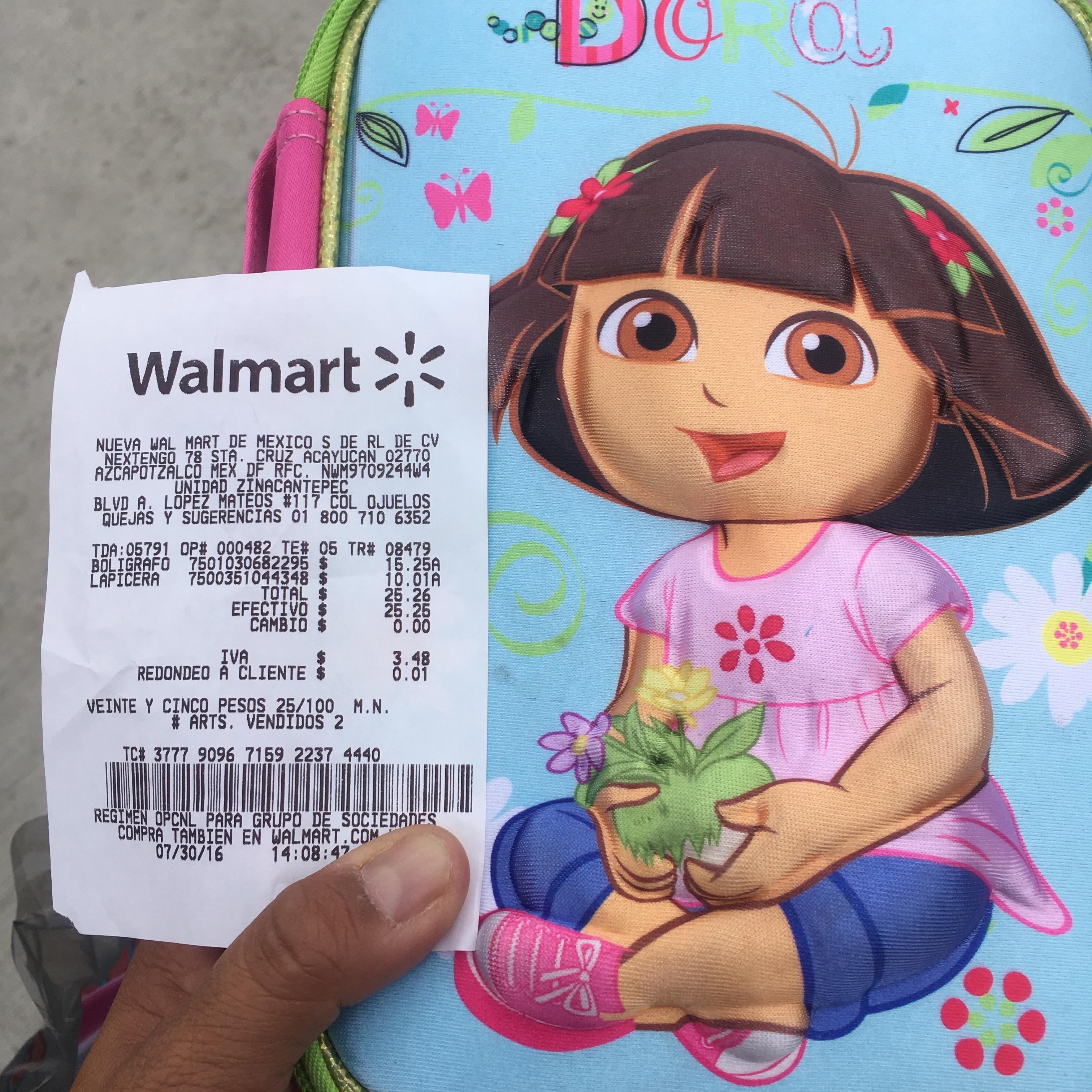 Walmart Liquidacion: Lapicera Dora