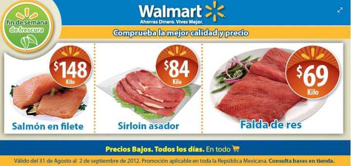 Fin de semana de frescura Walmart y viernes de carnes en Chedraui agosto 31
