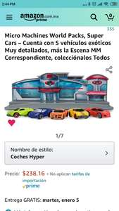 Amazon: Micro Machines set de 5 vehículos aplica prime
