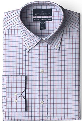 Amazon: Bottoned Down camisa para hombre a cuadros