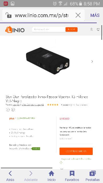 Linio: Stun Gun Paralizador Inmovilizador Vipertek 15 millones Volt-Negro $180.00 ENVÍO GRATIS