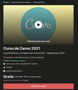 Udemy: Curso de Canva 2021