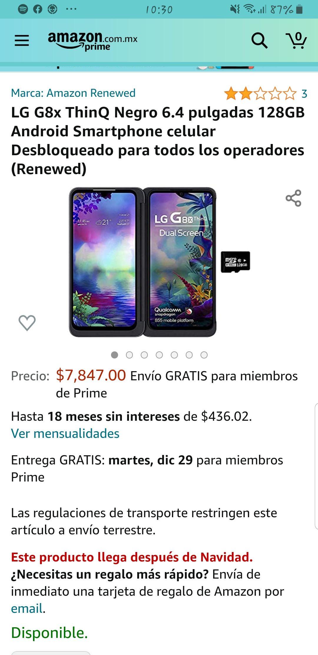 Amazon: Lg8x Thinq