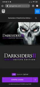 Epic Games Store: Darksiders 2 Deathinitive Edition