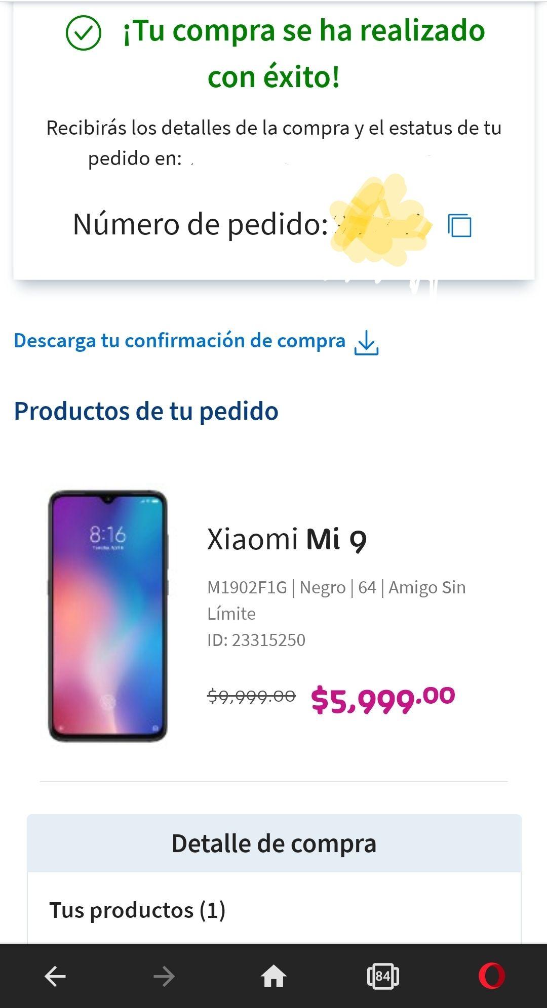 Telcel: Xiaomi Mi 9