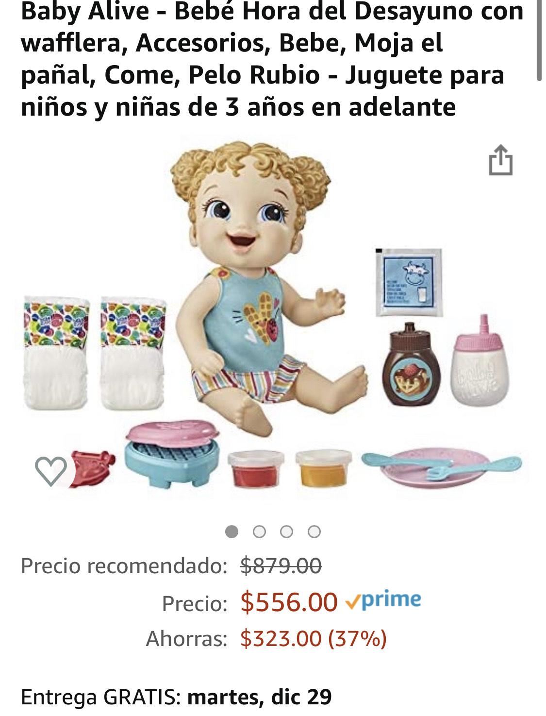 Amazon: Baby Alive: Bebé hora del desayuno