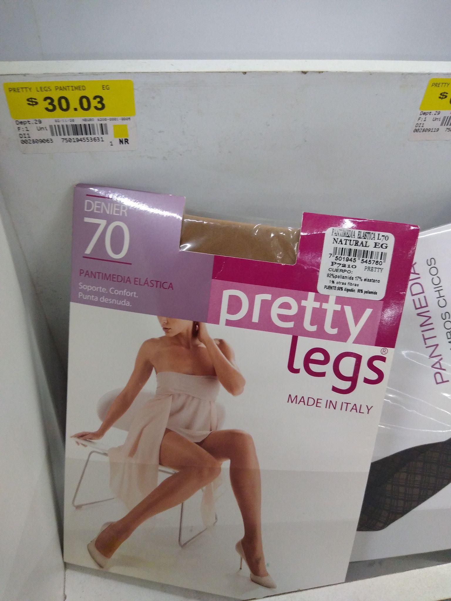 Medias pretty legs en wallmart copilco