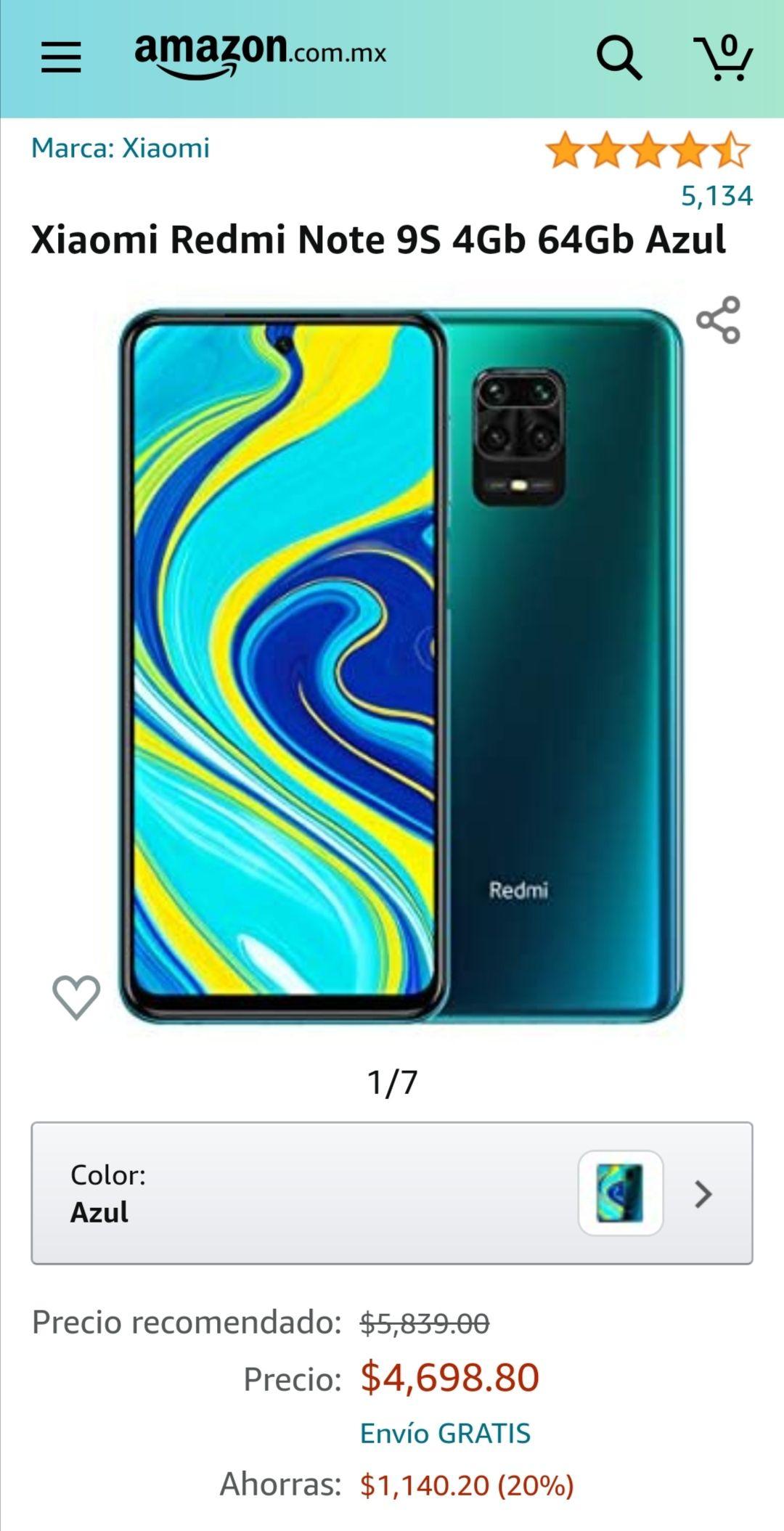 Amazon: Xiaomi redmi note 9S
