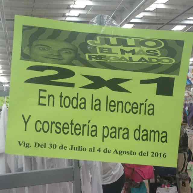 Comercial Mexicana: 2x1 lencería y corseteria