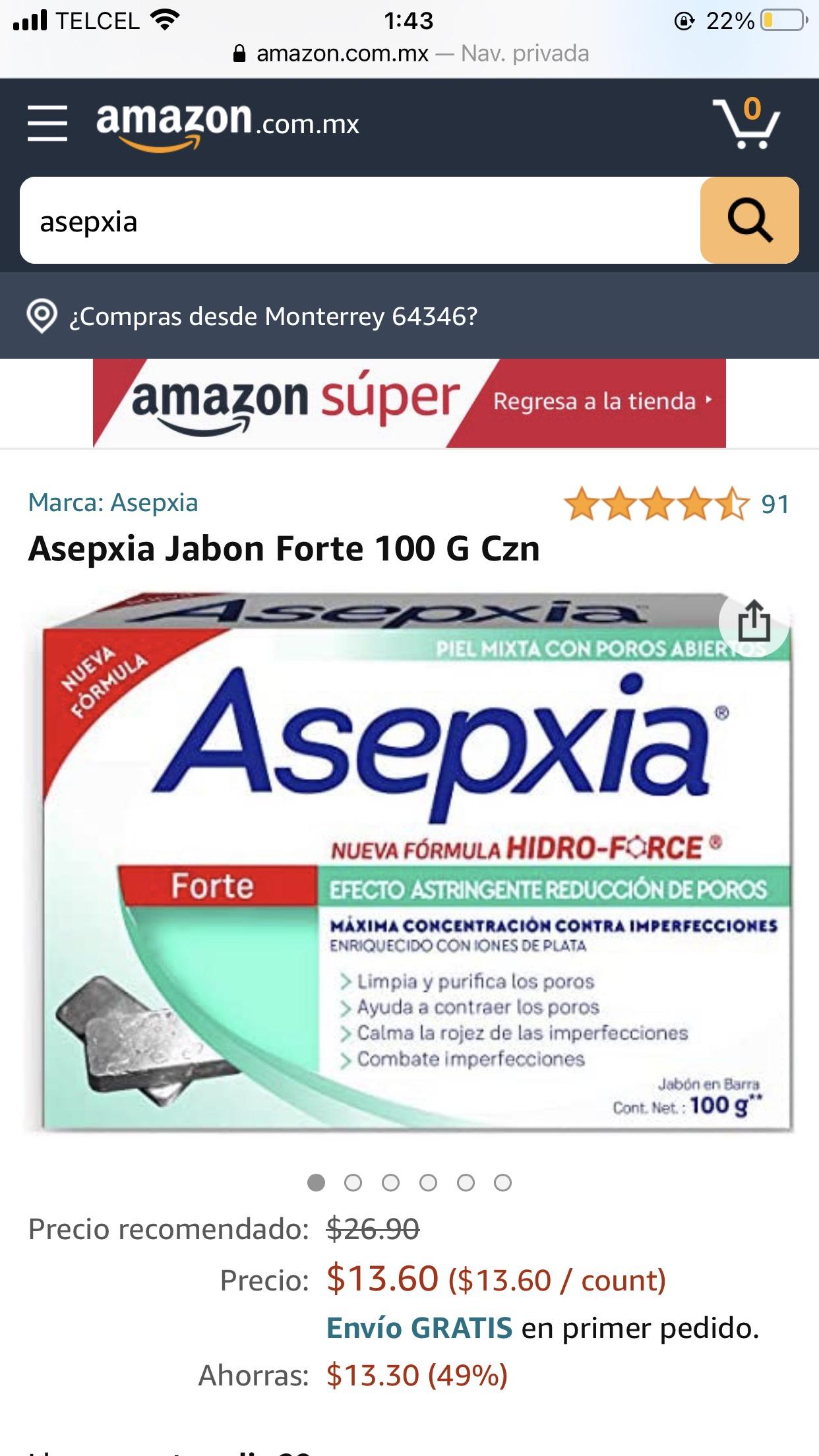 Amazon Jabón asepxia