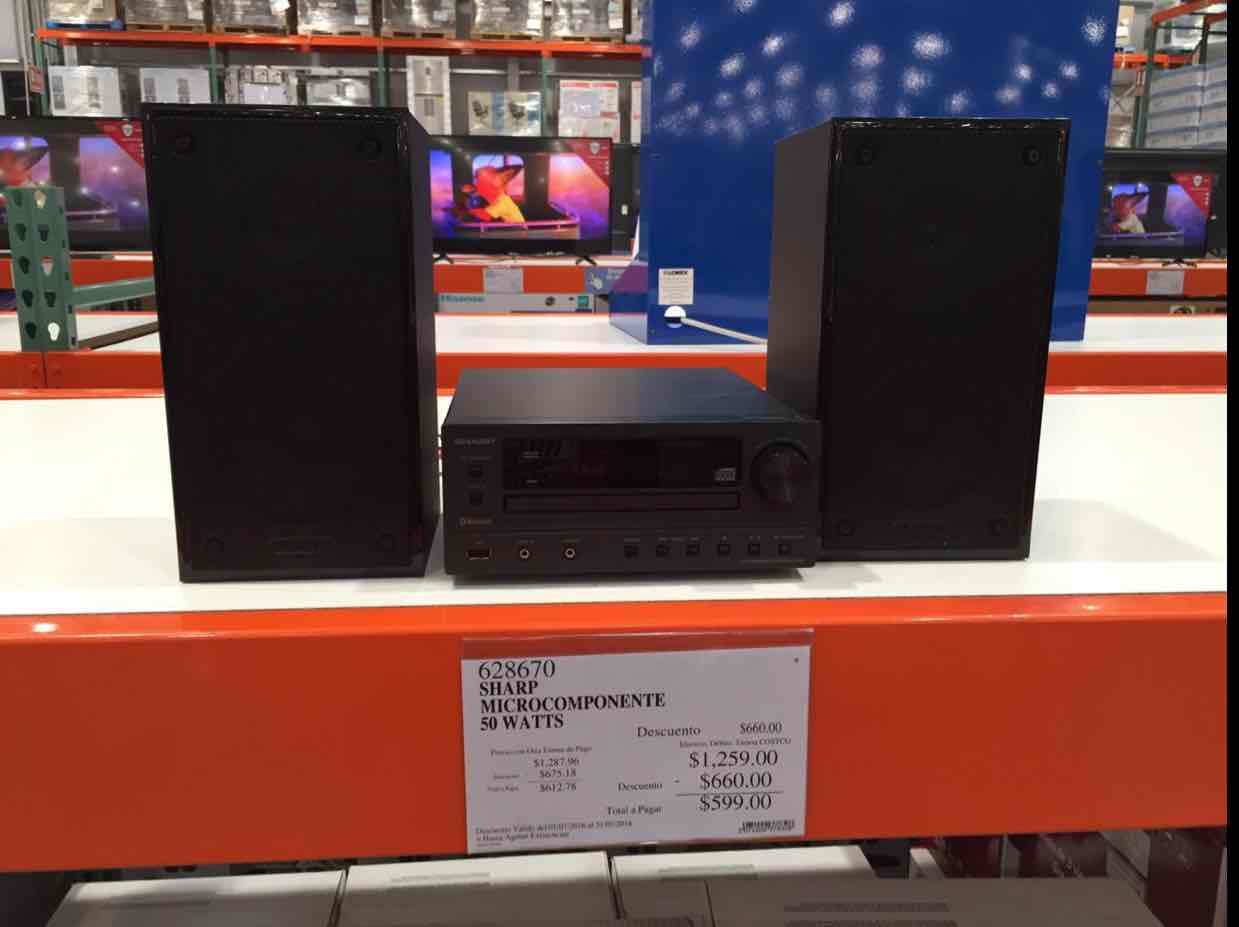Costco: Microcomponente Bluetooth Sharp a $599