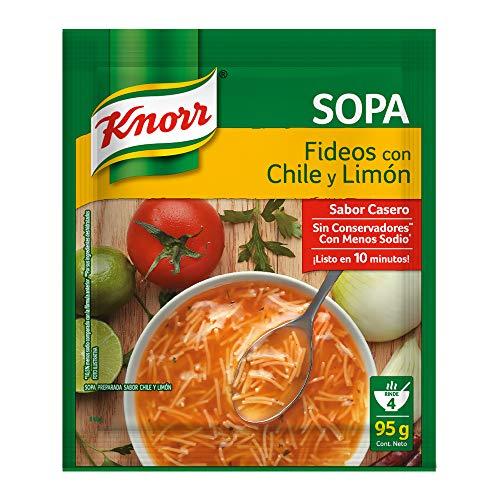 Amazon: Knorr Sopa Fideo, Chile y Limón 95 gramos