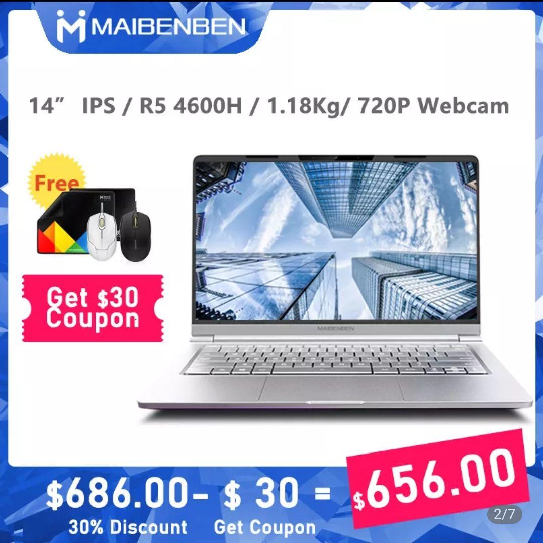 AliExpress: Laptop Maibenben de 14 pulgadas DHL