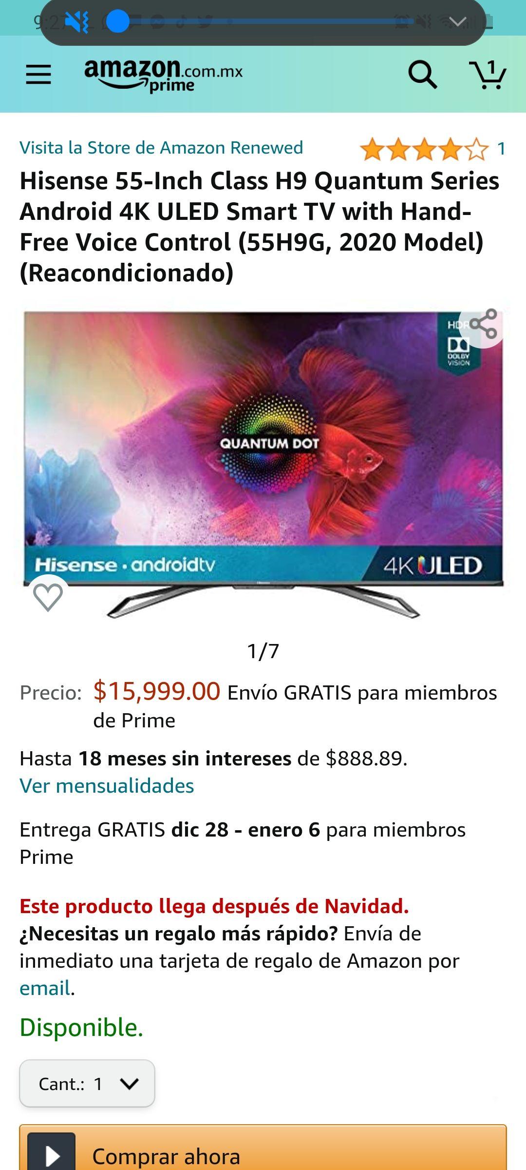 Amazon: Hisense H9G