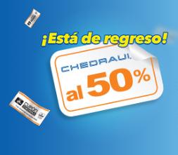 Chedraui: Calendario de ofertas al 50%