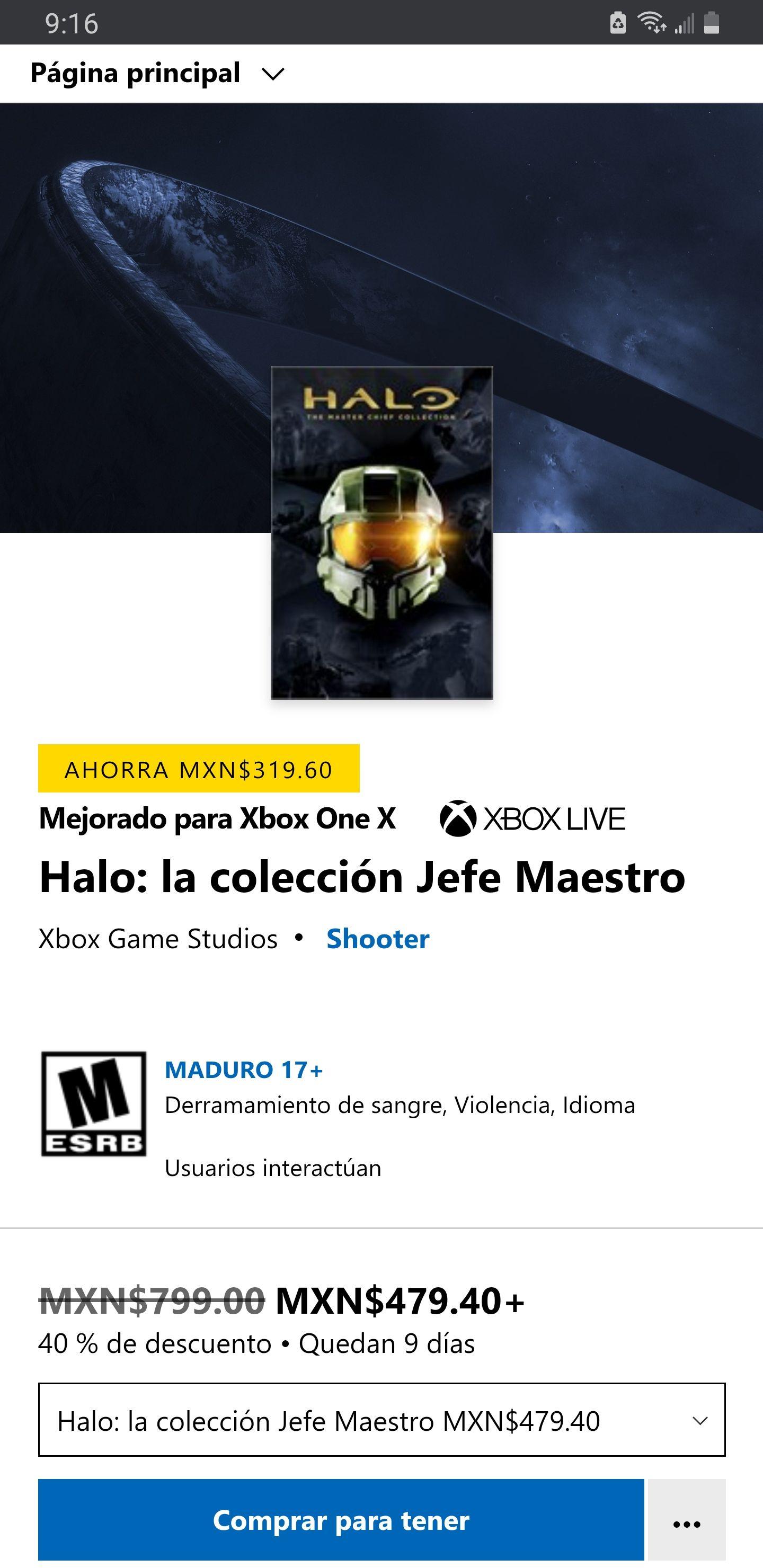 Microsoft Store, Halo: La colección del Jefe Maestro