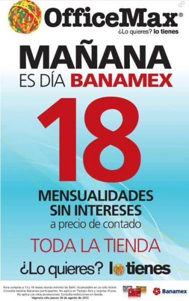 Día Banamex en OfficeMax Agosto 30