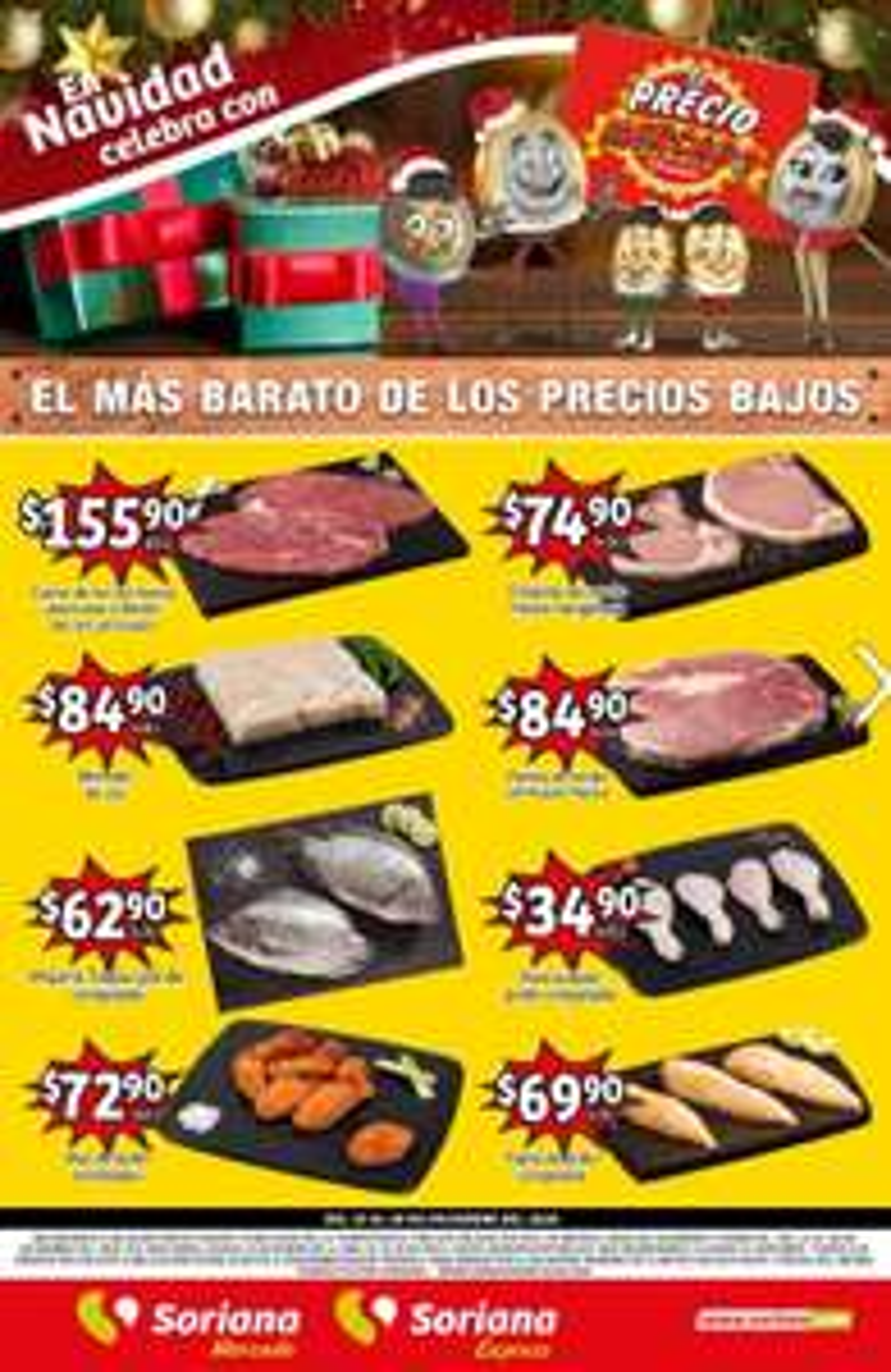Soriana Mercado y Express: Volante de Ofertas Fin de Semana del Viernes 25 al Lunes 28 de Diciembre