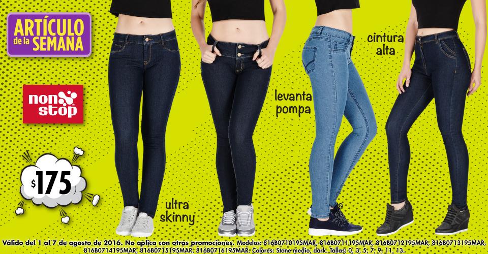 Suburbia: artículo de la semana Jeans Non Stop a $175 del 1 al 7 de agosto 2016.