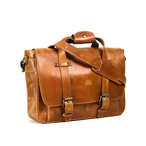 Amazon: Portafolio Montana AG Leather 100% piel Unisex (Miel)