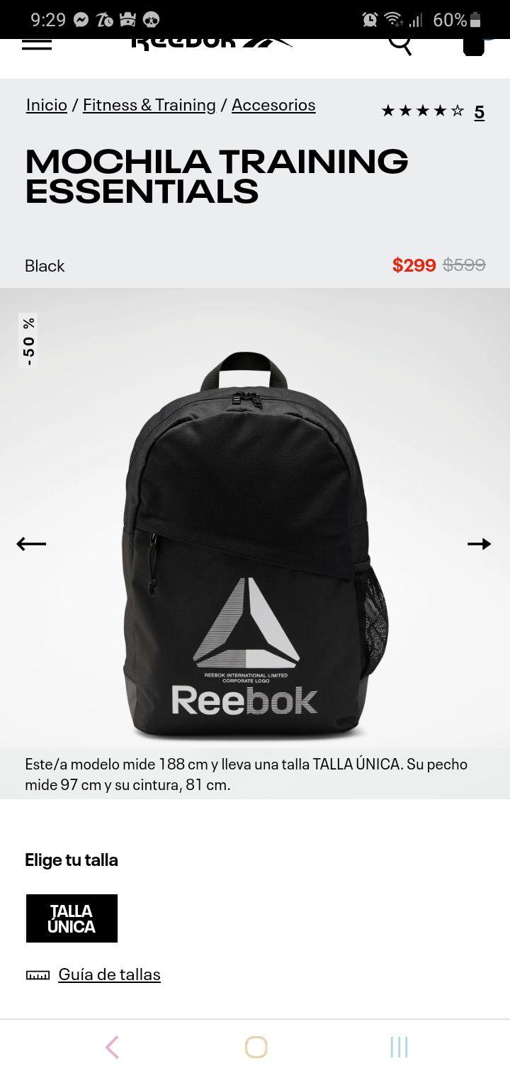 Reebok: mochila con compartimiento para laptop en $225