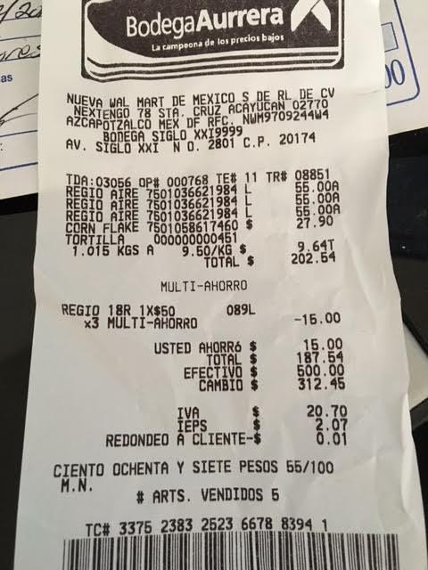 Bodega Aurrerá: Papel higiénico Regio 18 rollos de 280 hojas dobles a $50