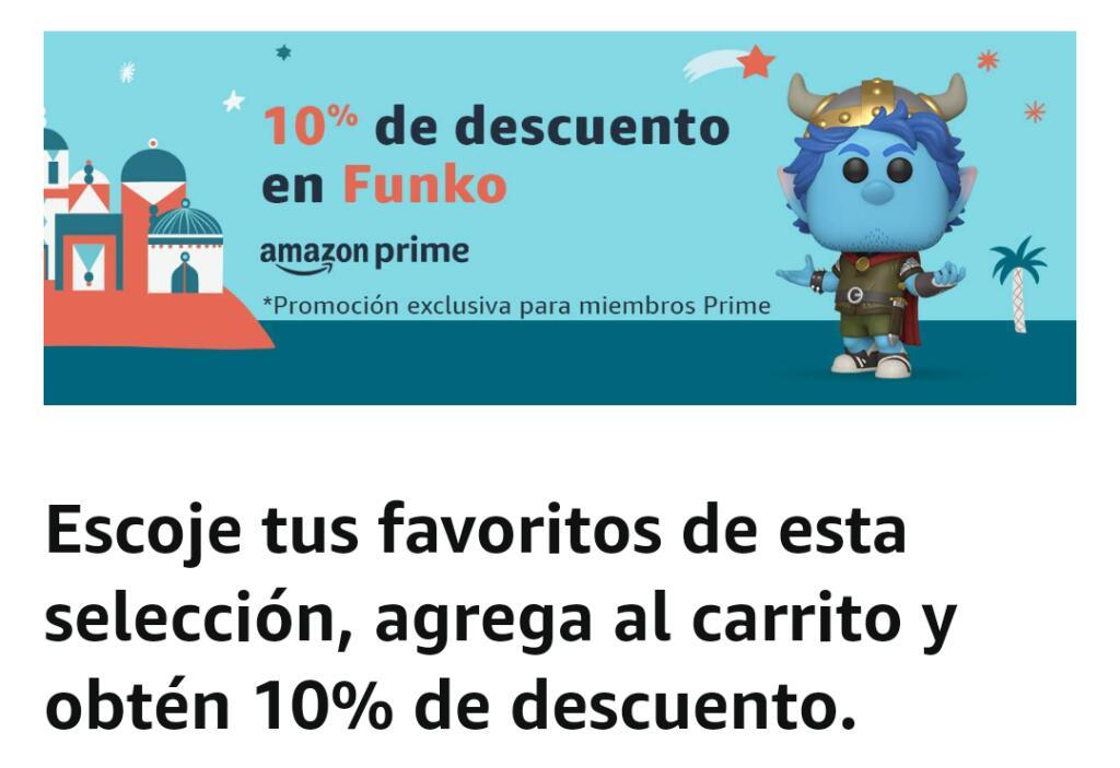 Amazon: 10% de descuento en Funkos para miembros Prime de Amazon