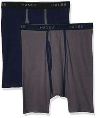 Amazon: Bóxeres ajustados para hombre Hanes, 2 piezas - CH y Mh