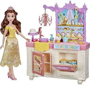 Amazon, Disney Princess - Cocina Real de Bella - Muñeca y playset con 13 Accesorios, Sra. Potts y Chip