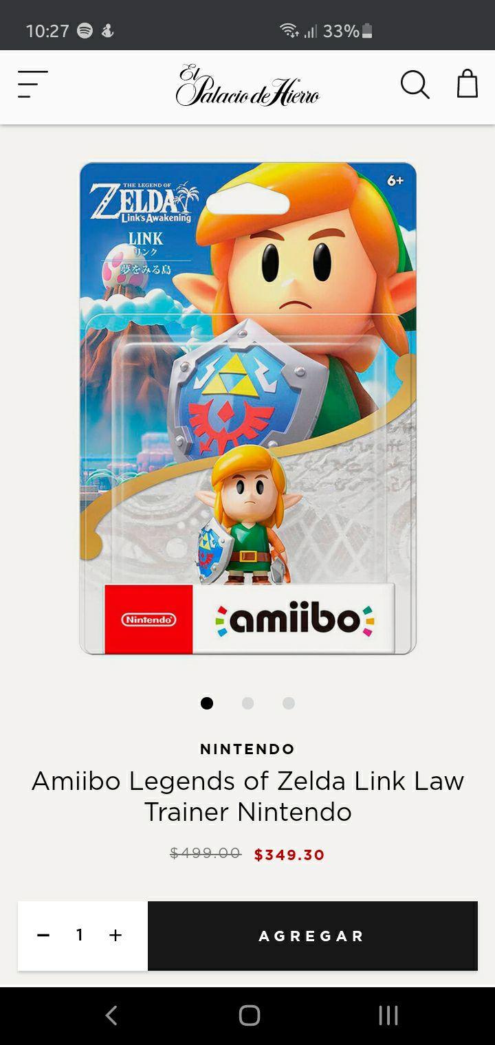 El Palacio de Hierro Amiibo The Legend Of Zelda Link's Awakening