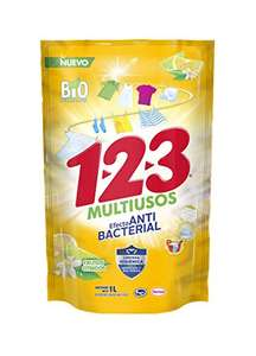 Amazon: 1-2-3 jabon liquido con efecto Anti Bacterial 1 litro