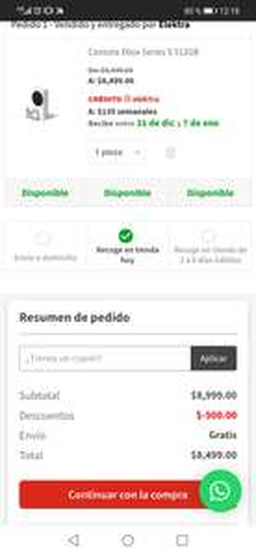 10% de descuento directo pagando con paypal en Elektra máximo $500 + 10% extra al pagar con citibanamex a MSI