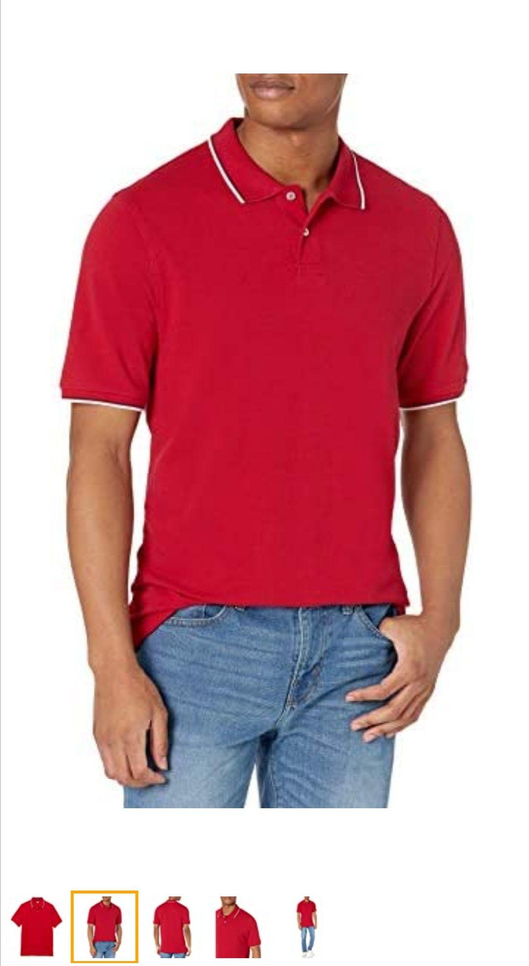Amazon:;Playera Amazon essentials talla XS solo color Rojo.