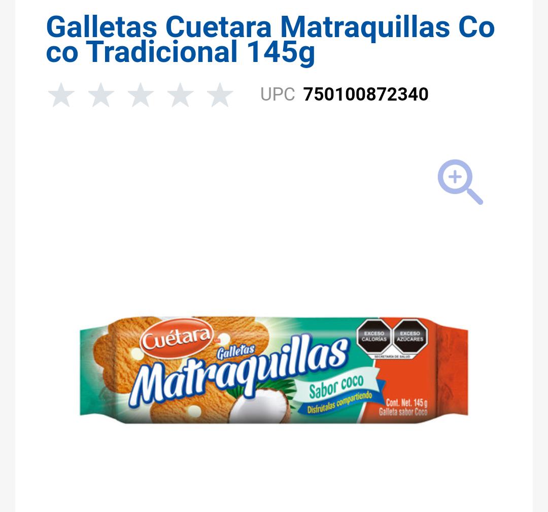 Chedraui Coapa: Galletas Matraquillas Cuetara Sabor Coco.