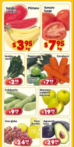 Frutas y verduras en HEB: sandía y plátano $3.95 Kg c/u y más
