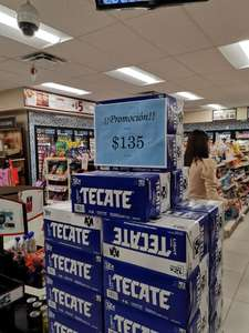 Oxxo: 12 pack Tecate Light $135