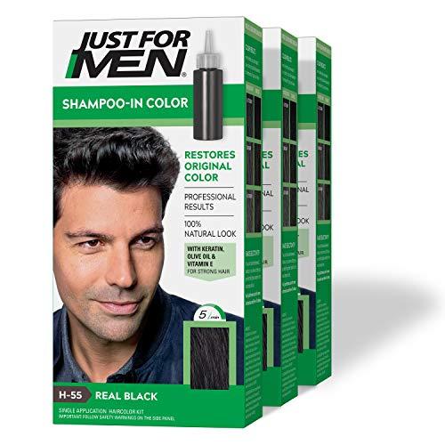 Amazon: Just For Men Original Formula Men's Hair Dye, color 11 Real Black, Pack of 3 (Empaque puede variar)