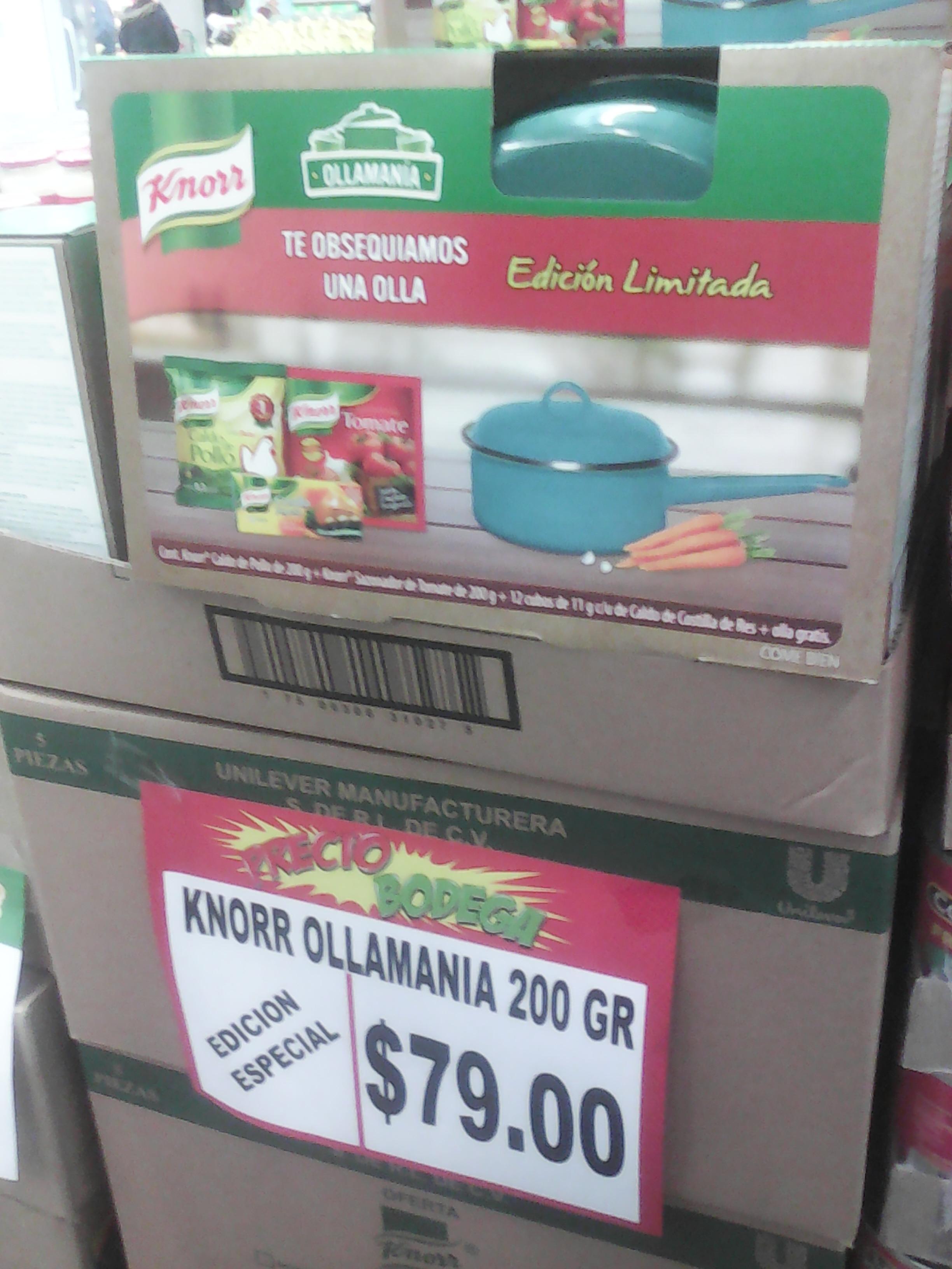 Ollamanía en Bodega Aurrerá: paquete de Knorr + olla gratis a $79 (son 5 diferentes)