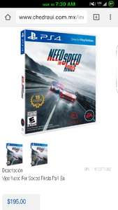 Chedraui CD del Carmen en Linea: Need For Speed Rivals PS4