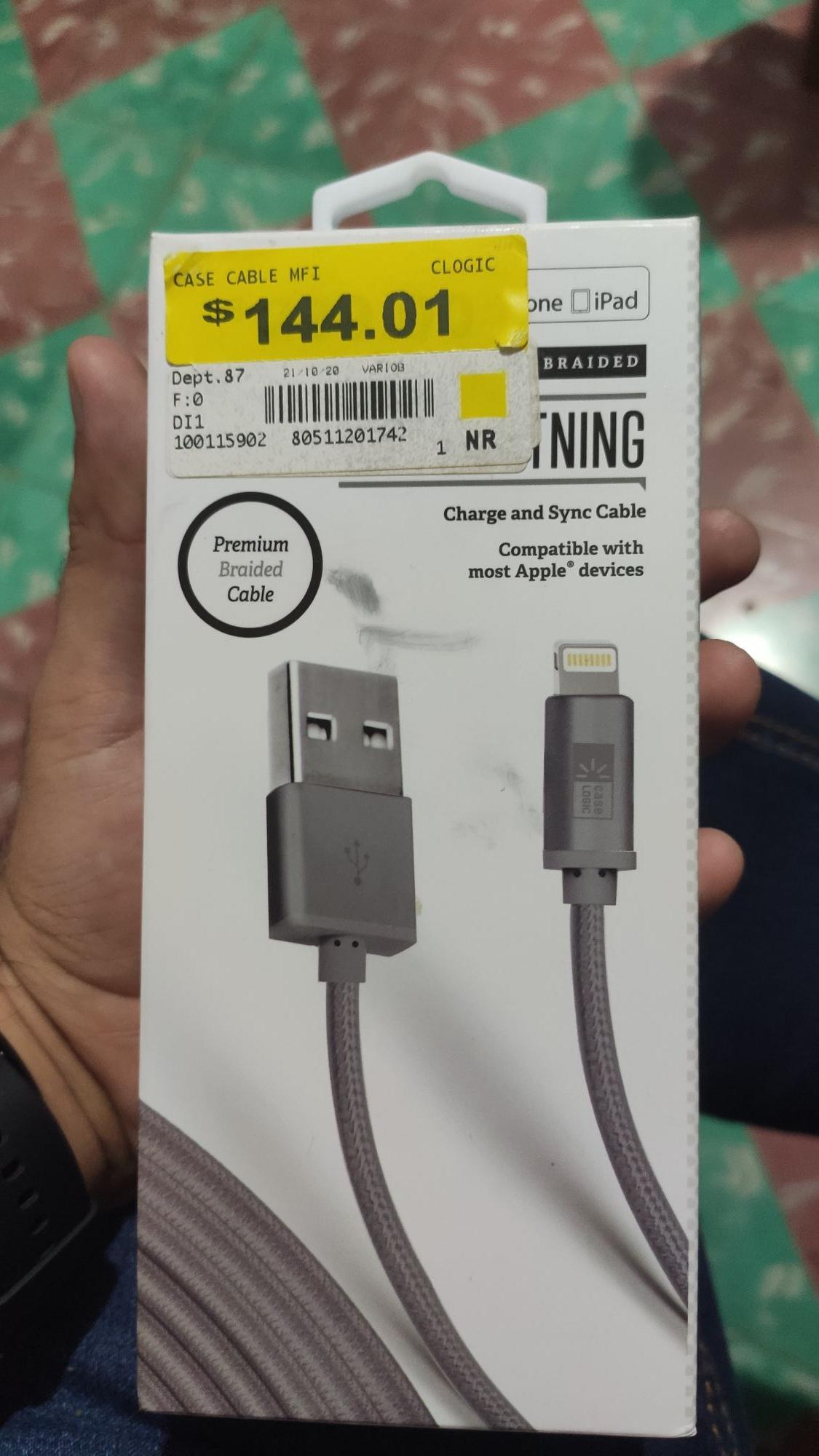 Bodega Aurrera: Cable Lightning para iPhone