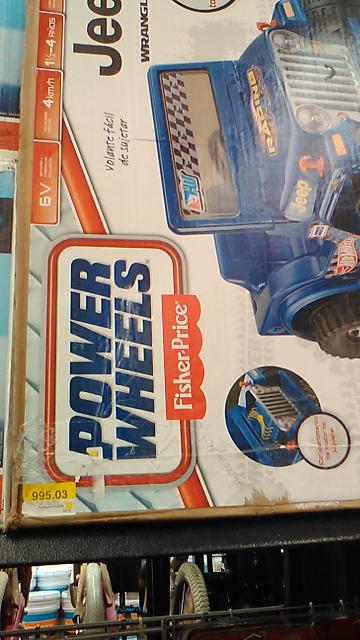 Walmart: Jeep Power Wheels 6v a $995.03