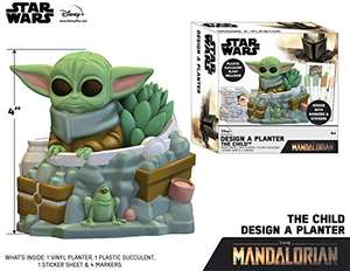 Amazon Macetero de Baby Yoda para colorear