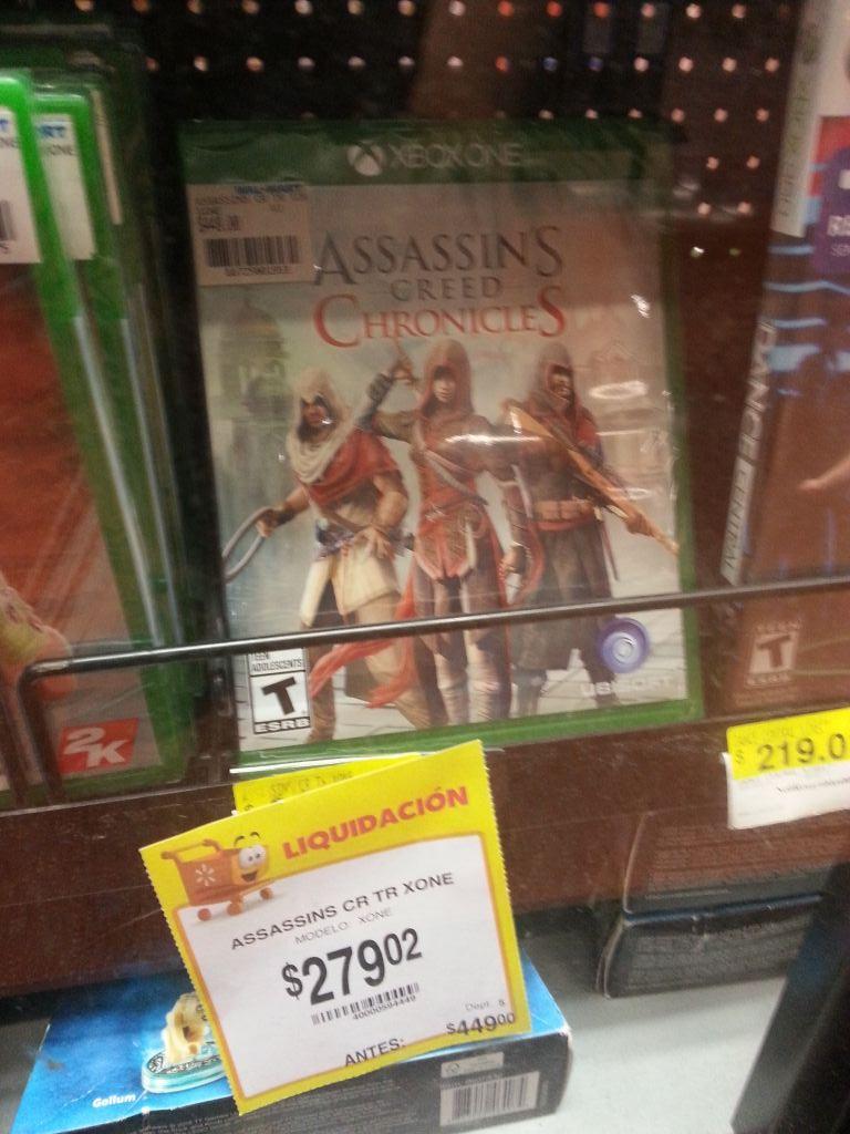 Walmart 68 Culiacan Sinaloa: Assassin's Creed Chronicles para Xbox One a 279.02