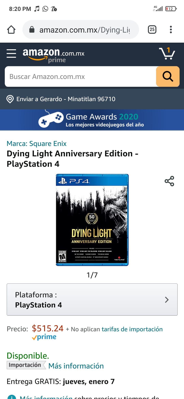 Amazon: Dying Light Anniversary Edition - PlayStation 4 Enviado por Amazon E.U.