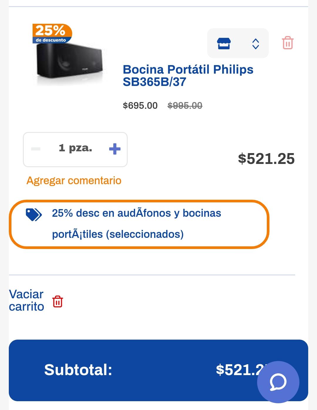 Chedrau: Bocina Portátil Philips SB365B/37