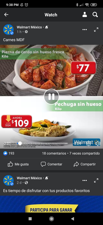 Walmart : Martes de frescura 29 de diciembre