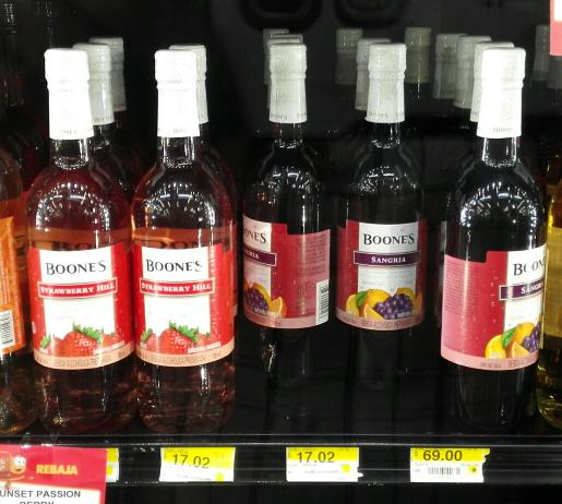Walmart: Boones Sangría y Fresa a $17.02