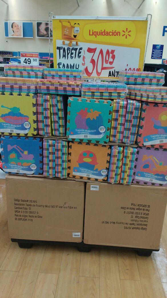 Walmart 3 Ríos: set de tapete de foamy a $30.03