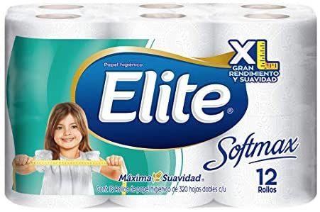 Amazon: Elite Softmax Elite Softmax Papel Higiénico Doble Hoja 12 Rollos, color, 12 Rollos